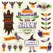 Vector de stock : Halloween sale design elements
