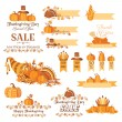 Thanksgiving decorative elements — Stock Vector