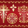 Stock Vector: Christmas crosses