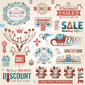 Set of christmas decorative elements (color) — Vetorial Stock