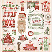 Set of christmas decorative elements (color) — Stockvektor