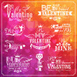 Set of Valentines Day typographic elements — Stock Vector