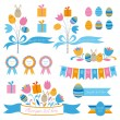 Set of easter design elements — Stock Vector