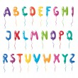 Set of alphabet balloons — Stock Vector