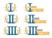 Awards emblems set — Stock Vector