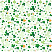 Seamless pattern from clover leaves — Stock Vector