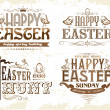 Set of easter labels — Stock Vector