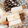Nougat with almonds — Stock Photo #12745162