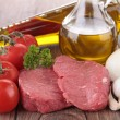 Raw meat and ingredients — Stock Photo #13128794