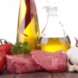 Raw meat and ingredient — Stock Photo