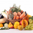 Stock Photo: Abundance of vegetable and fruit