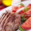 Grilled beef and tomato — Stock Photo