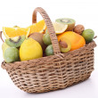 Wicker basket with fruits — Stock Photo #13423633