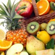Abundance of fruits — Stock Photo