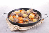 Beef stew and vegetables — Stock Photo
