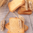 Rusk and wheat - Stock Photo