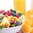 Healthy breakfast with fruits — Stock Photo #13623516