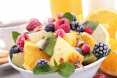 Healthy breakfast with fruits — Stock Photo