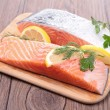 Stock Photo: Raw salmon