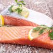 Raw salmon — Stock Photo #13757997
