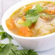 Soup/broth — Stock Photo