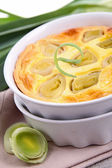 Leek quiche — Stock Photo