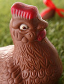 Choclate easter hen — Stock Photo