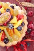 Fruit charlotte — Stock Photo