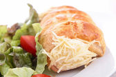 Puff pastry rolled with cheese — Stock Photo