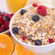 Bowl of muesli and berries — Stock Photo