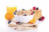 Bowl of muesli and berries — Stock Photo