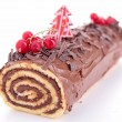 Royalty-Free Stock Photo: Isolated yule log