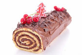 Isolated yule log — Stock Photo