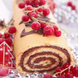 Yule log - Stock Photo