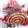 Chocolate swiss roll — Stock Photo #16417451
