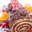 Chocolate swiss roll — Stock Photo #16417951