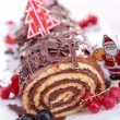 Chocolate swiss roll — Stock Photo #16418081