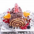 Chocolate swiss roll — Stock Photo #16980103