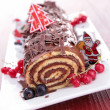Stock Photo: Chocolate swiss roll