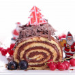 Chocolate swiss roll — Stock Photo #16980171
