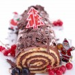 Chocolate swiss roll — Stock Photo #17133007