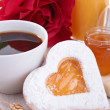 Valentine's day breakfast — Stockfoto