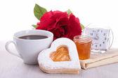 Desayuno de san valentín — Foto de Stock