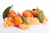 Isolated ripe clementine — Stock Photo