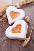 Heart shape biscuit — Stock Photo