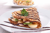 Banana crepe — Stock Photo