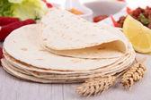 Bread taco — Stock Photo