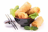 Isolated spring roll — Stock Photo