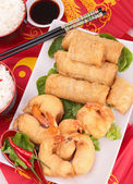 Assortment of asia food — Stock Photo