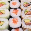 Assortment of maki sushi — Stock Photo